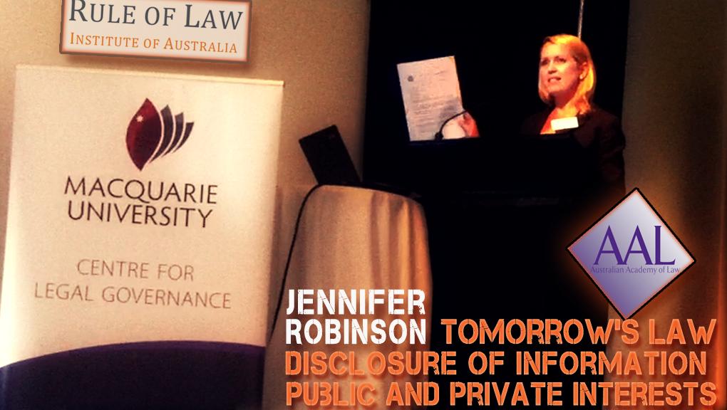Jennifer Robinson - The Wikileaks Experience